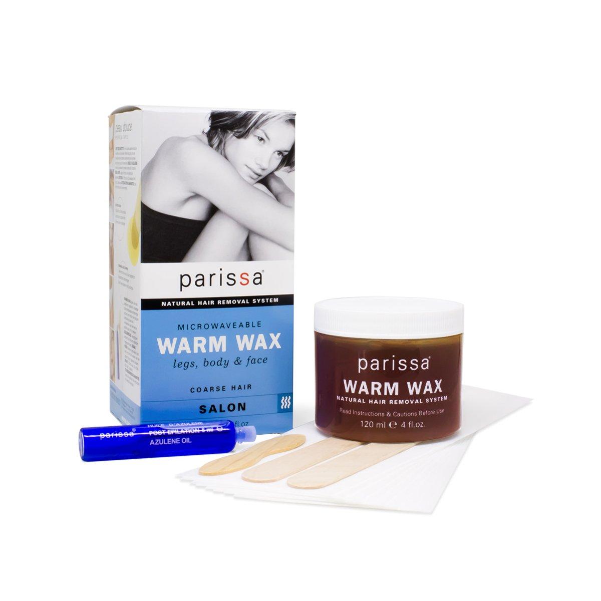 Amazon parissa hot wax bikini brazilian waxing kit with parissa warm wax hair removal waxing kit professional strength for body waxing 4 fl solutioingenieria Choice Image