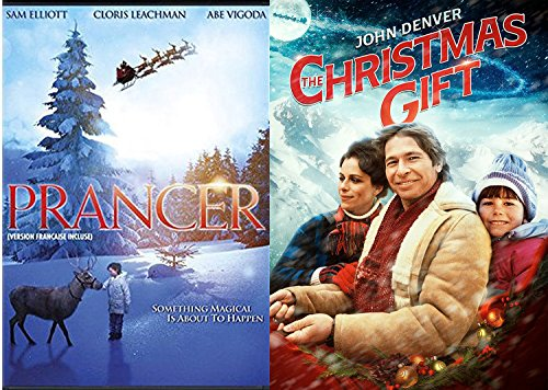 Manhattan Fireplace (John Denver The Christmas Gift Movie & Prancer the Reindeer Double Feature DVD Magical Bundle Holiday Collection)