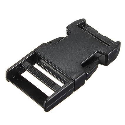SODIAL(R) 10pzs Clips hebillas de plastico para pulsera paracaidas cierre de correa negra