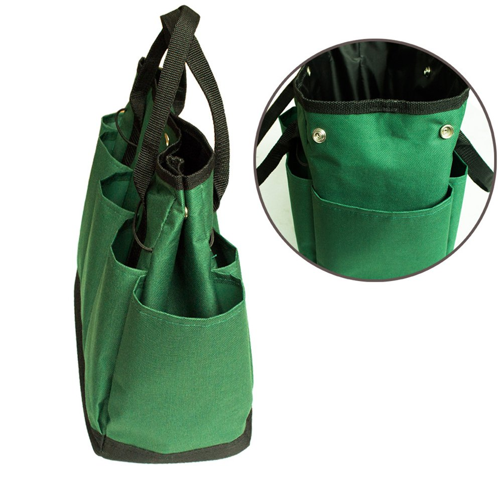 Graden Tool Bag Shoulder Strap Has Pockets Tool Storage Organiser, Can Fit Long Screwdrivers Klein Tools Waterproof Oxford Fabric Multi Pocket Bag for Tools Toolkits (34.317.230.5 CM, Army Green) by KASOS (Image #7)