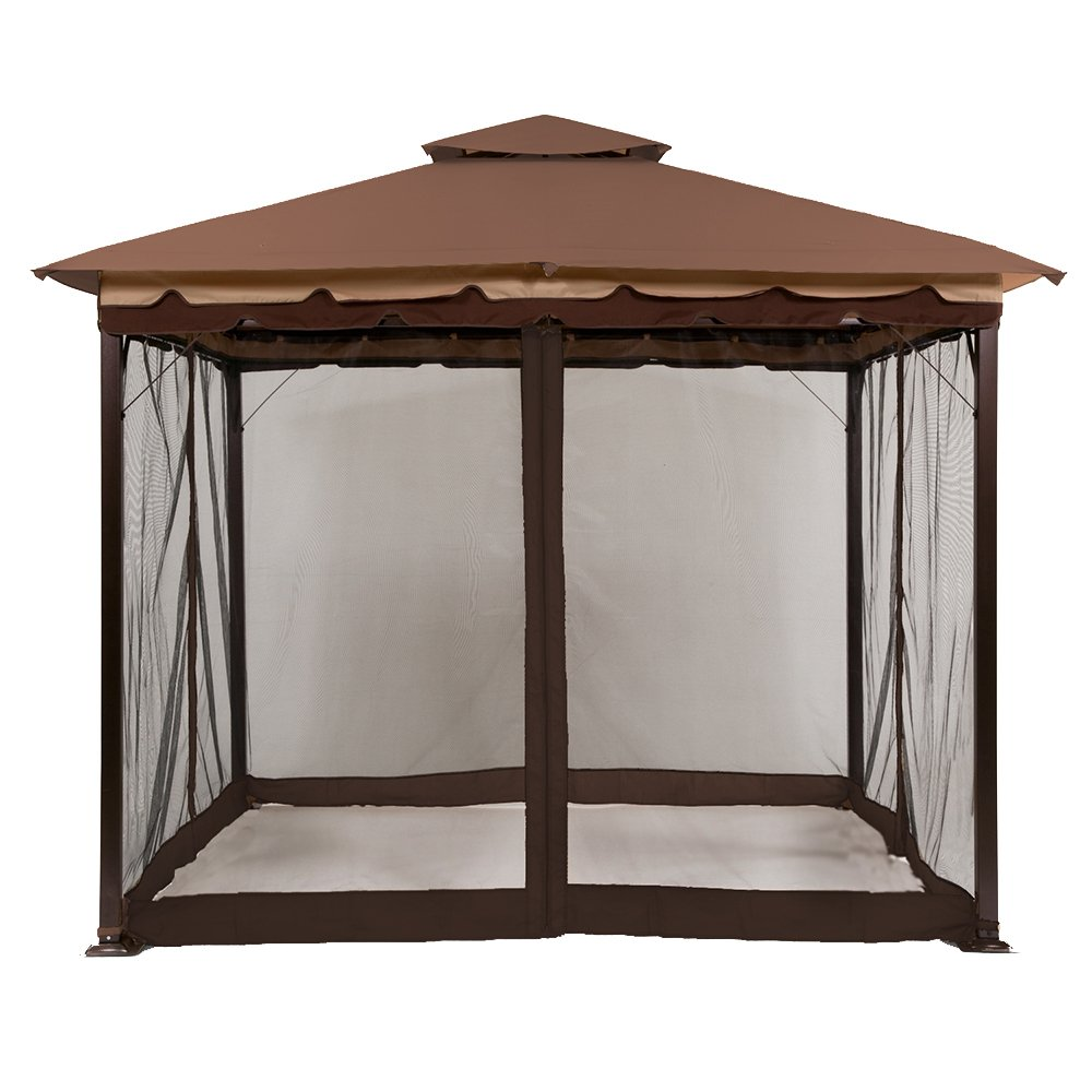 Amazon.com Sunjoy L-GZ436PST-MN Fabric Replacement Mosquito Netting Brown Garden u0026 Outdoor  sc 1 st  Amazon.com : cheap gazebo canopy - memphite.com