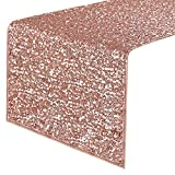 Shower Curtains with Pink in Them PONY DANCE Sequins Table Runner - Decorative Sparkling Table Runner with Premium Quality for Christmas/Party/Wedding/Birthday Banquet Decoration, 14
