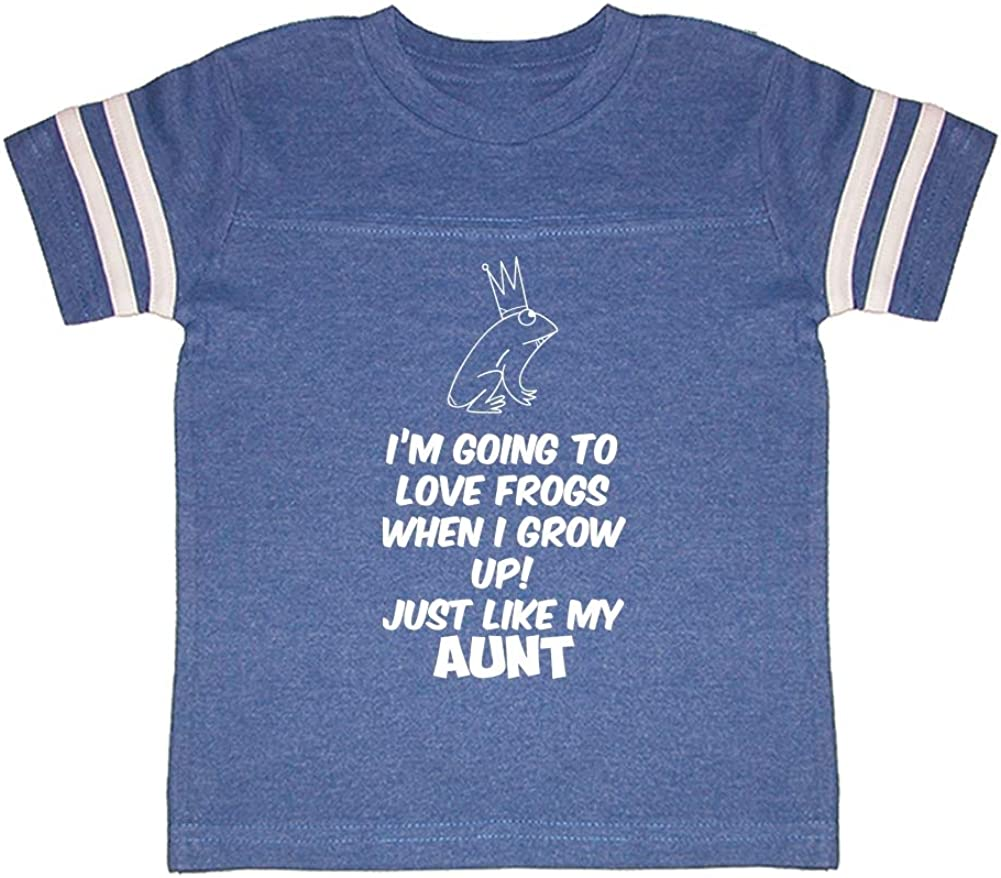 Toddler//Kids Sporty T-Shirt Im Going to Love Frogs When I Grow Up Just Like My Aunt