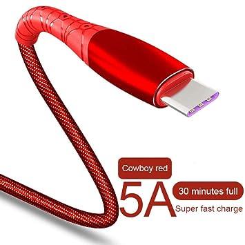 TOUSHI Cable Cargador Cable de Carga rápida USB Tipo C 5A ...