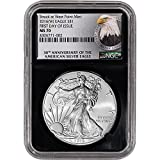2016 (W) American Silver Eagle (1 oz) First Day of Issue 30th Anniversary Retro $1 MS70 NGC