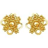Velvetcase 22k (916) BIS Hallmark Yellow Gold Stud Earrings