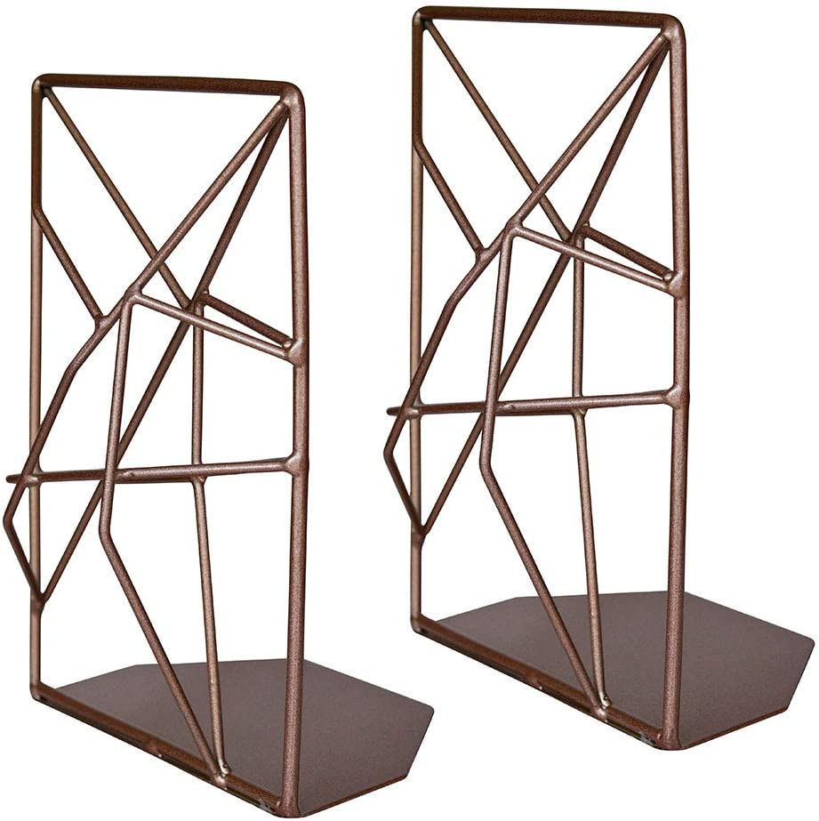 Book Stoppers for Modern Home Decor Decorative Book Ends for Book Shelves Kitchen Decor Rustic Decor Black Fine Pursuits Black Bookends Office Decor /& Home Office Book Shelf Decor