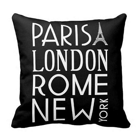 damuyas París Londres Roma y Nueva York Manta funda de ...