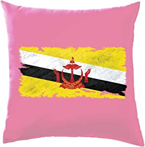 Brunei Grunge Estilo Bandera – Cojín 41 x 41 cm (16