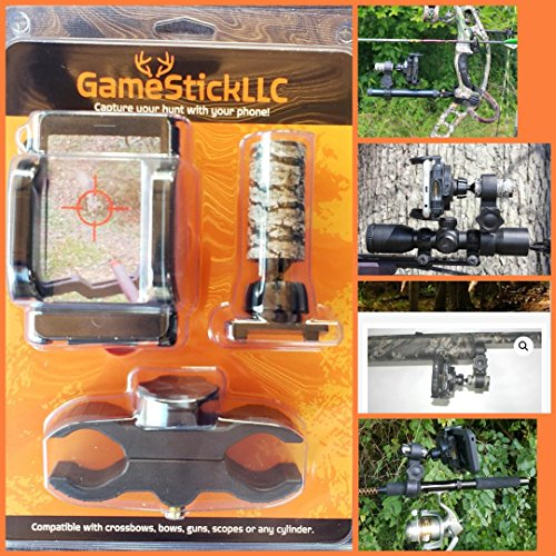 GameStickLLC Smart Cell Phone Hunting Mount for Crossbows, Bows and Guns!