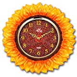 Yellow Sunflower Novelty Wall Clock Home Decor Quartz