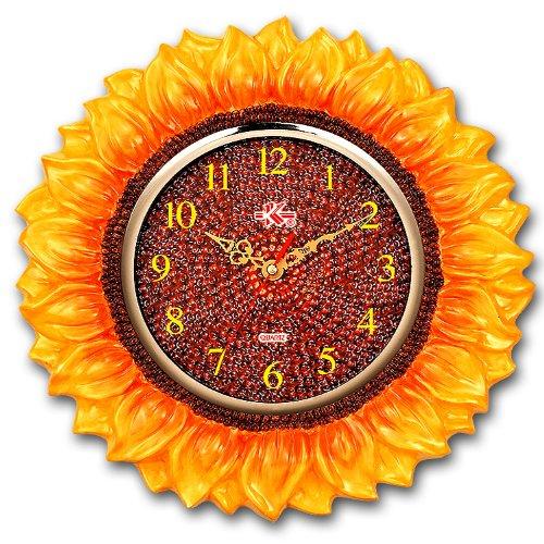 Yellow Sunflower Novelty Wall Clock Home Decor Quartz