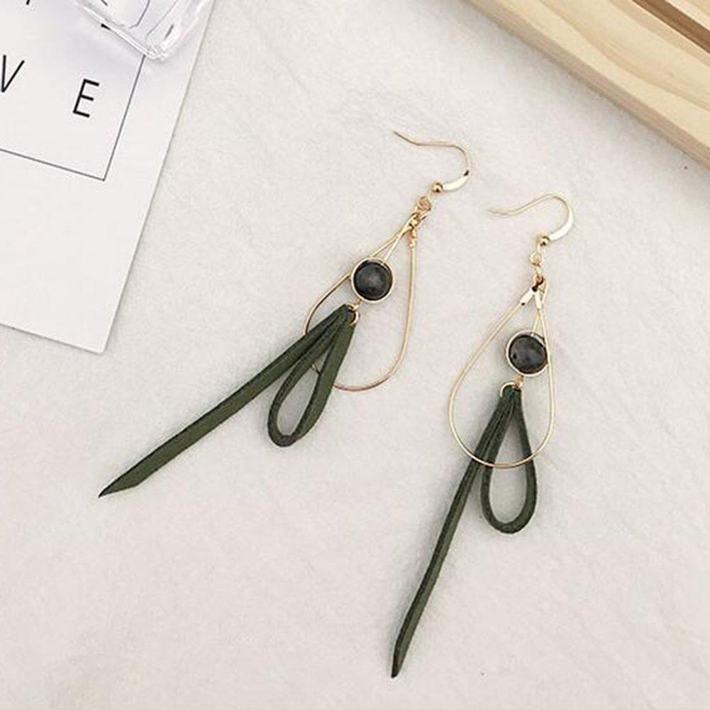 Golden xinmiltd hypoallergenic Fashion Sweet Bowknot Long Drop Hook Earrings Women Mori Girl Jewelry Gift