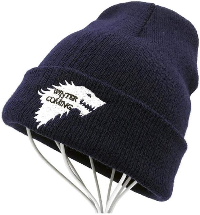A-HXTM Gorro de Punto c/álido Skullies House of Stark Winter is Coming Dire Wolf Hat para Adultos Hombres Mujeres Adolescente