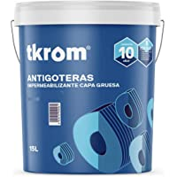 Pintura TKROM Antigoteras (Gris 15 litros)