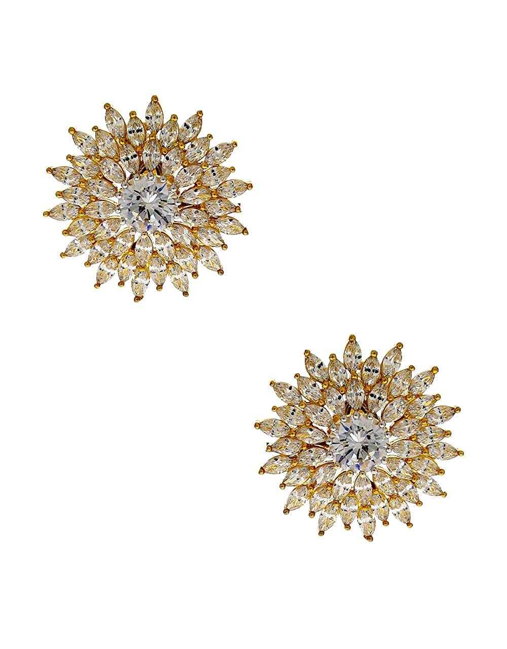 Anuradha Art Golden Colour Adorable Classy Studs Earrings For Women//Girls