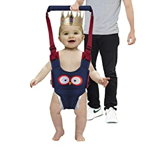 Multifunction Baby Walker Toddler Walking Assistant,3-in-1 Protective Belt Harness, Breathable Stand Up & Walking Learning Helper for 5-26 Month Baby Boy and Girl