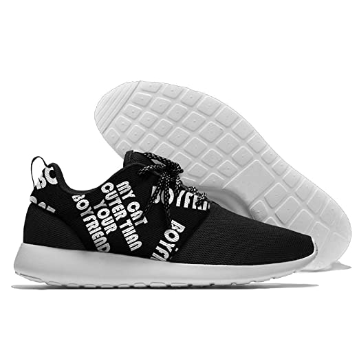 My Cat Is Cuter Than Your Boyfriend Men Fashion Walking Shoes Lightweight Slip-On Loafers Shoes