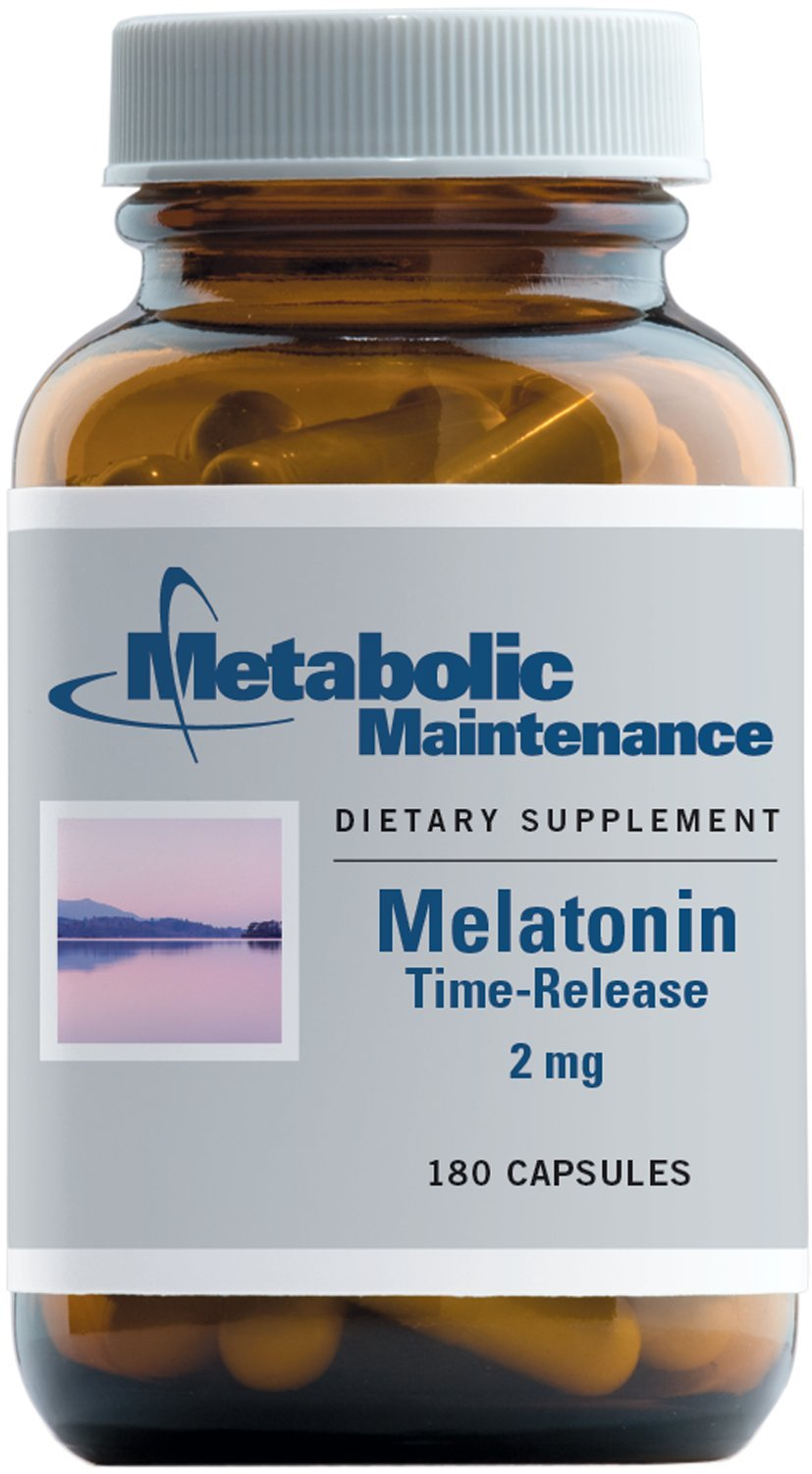 Metabolic Maintenance - Melatonin - 2 mg, Timed Release Supports Restful Sleep + Nerve Health, 180 Capsules