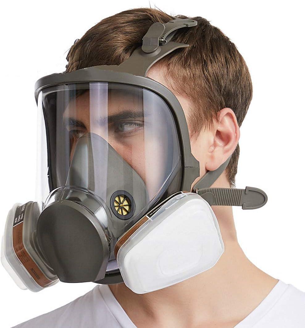 Máscara Completa 7 en 1 6800 de la Cara Llena del respirador Compatible con la Serie 6000 Reutilizable Mascarilla Facial respirador, 1-Pack, Sistema Entero, Medio