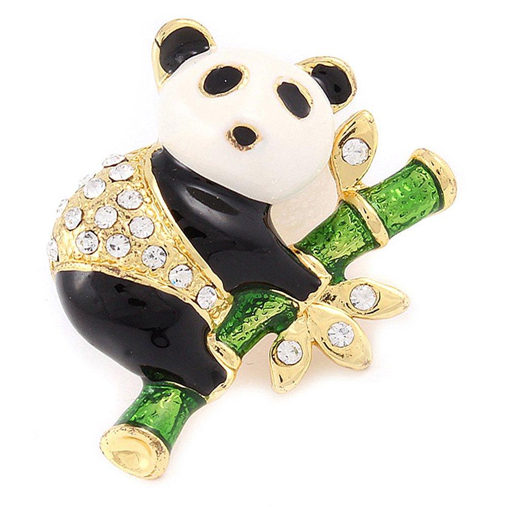 Enameled Panda Bear Pin