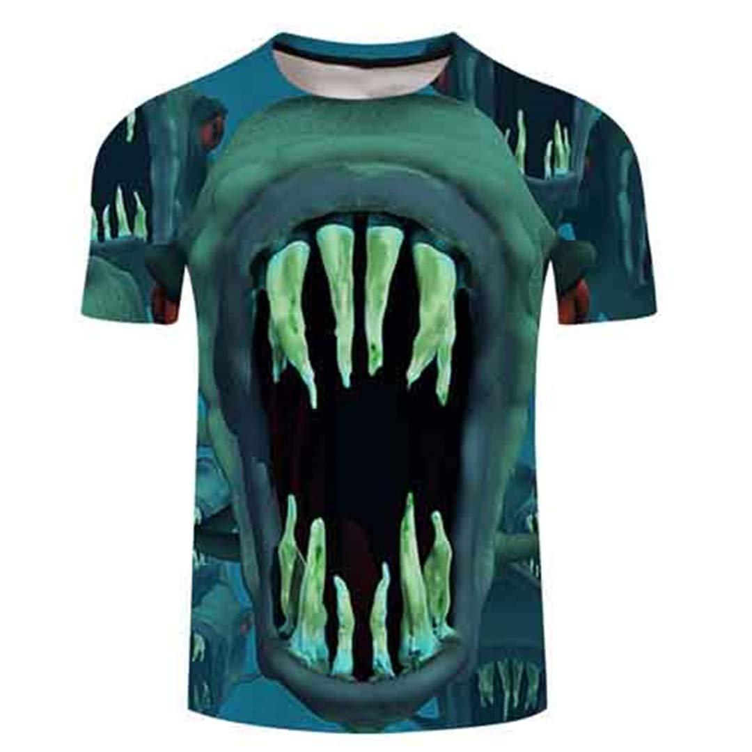 Fish Tshirt Men T Shirt 3D T-Shirt Harajuku Tee Streatwear Short Sleeve TXKH1079 Asian S