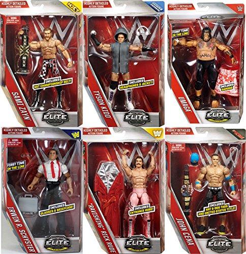WWE ELITE 40 - COMPLETE SET OF 6 MATTEL TOY WRESTLING ACTION FIGURES
