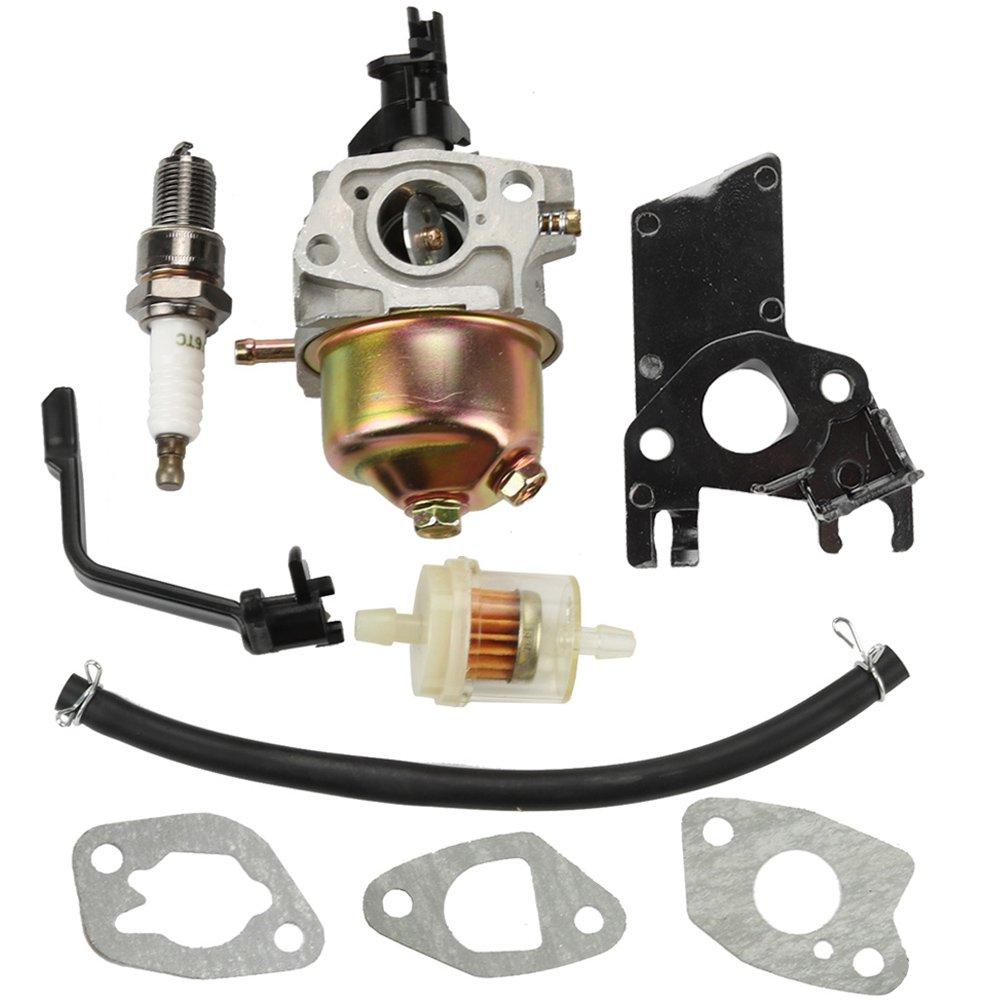 Panari Carburetor + Fuel Filter for Champion Power Equipment 3000 3500 4000 Watt 196cc 4-Stroke OHV Engine Gas Powered Portable Generator by Panari