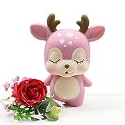MASSJOY Deer Child Piggy Bank, Boy and Girl Cartoon Drop-Proof Piggy Bank, Children's Day Gift.