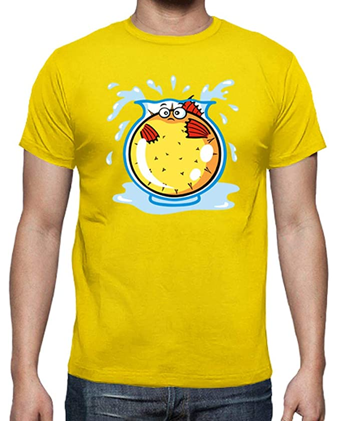 latostadora - Camiseta Pez Globo en Pecera para Hombre: SiempreOriginal: Amazon.es: Ropa y accesorios