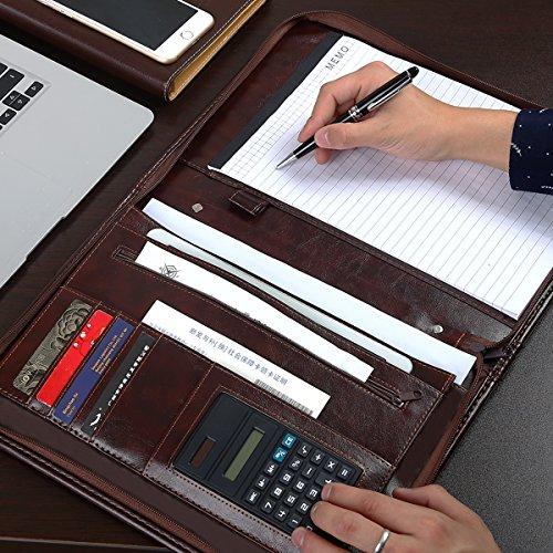 5cdd8e39ace2 Leathario-Portfolio en cuir PU pour bureau porte document agenda d affaire  chemise de