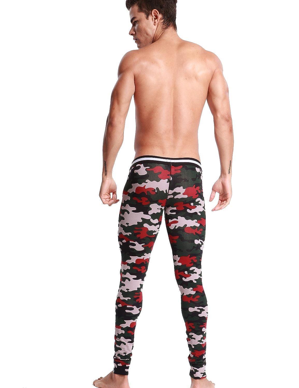 SEOBEAN Uomo Biancheria Intima Low-Rise Pantaloni Long John cotone 2/colori
