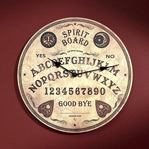Design Toscano Ouija Spirit Board Wall Clock, Tan - creepy Halloween home decor