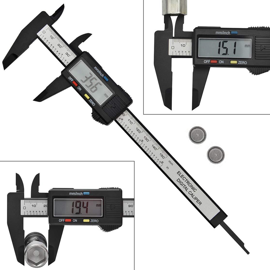 6/'/' 150mm Electronic LCD Digital Vernier Caliper Micrometer Measure Gauge Ruler