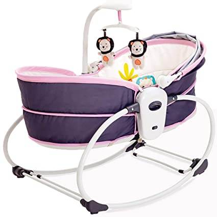 Marvelous Amazon Com Rocking Ride Ons Baby Cradle Bed Electric Andrewgaddart Wooden Chair Designs For Living Room Andrewgaddartcom