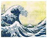 Katsushika Hokusai The Great Wave Japanese Fine Art Poster Print, Unframed 16x20