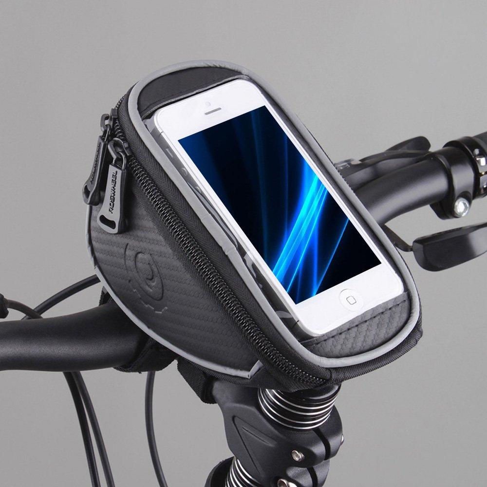 Lixada Roswheel Bicicletta Ciclismo MTB BMX Borse da Manubrio Supporto del Telefono Mount con Touch Screen 5.5 Pollice Schermo