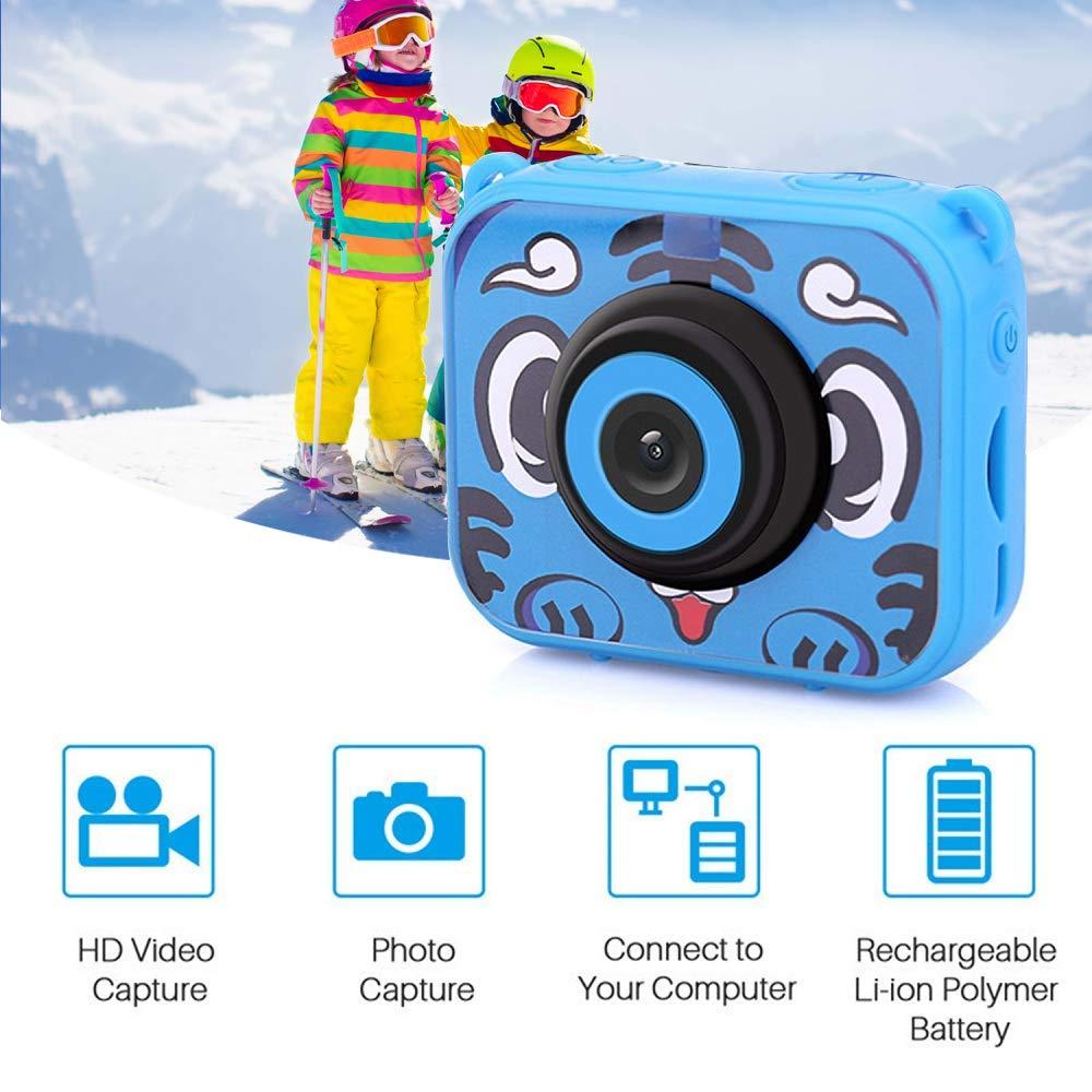 Wimaha HD Fotocamere digitali per Bambini Fotografica Macchina Fotocamera Digitale Subacquea Kids per Bambina Foto Videocamera 1080P Impermeabile