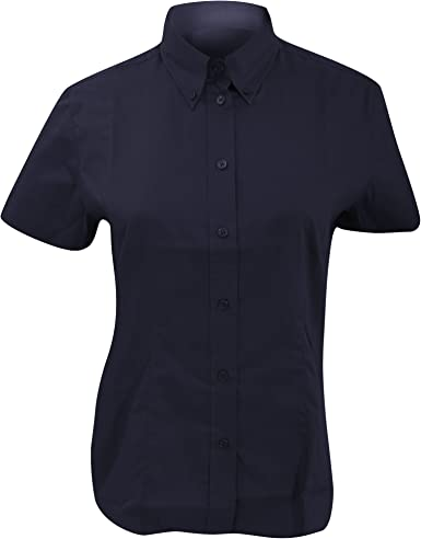 KUSTOM KIT- Camisa Oxford de Manga Corta de Empresa para Mujer (50) (Marino Medianoche): Amazon.es: Ropa y accesorios