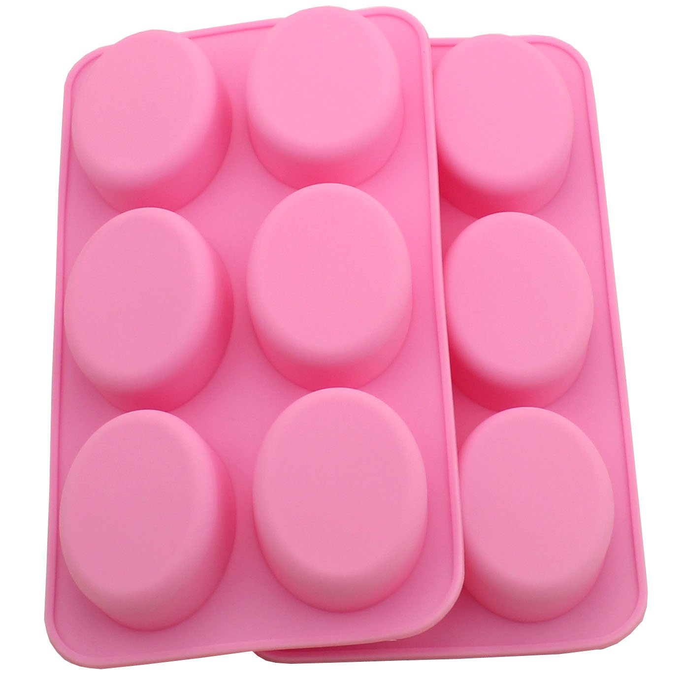 Zicome Oval Silicone Mold for Soap Bar Making, Set of 2 SYNCHKG115178