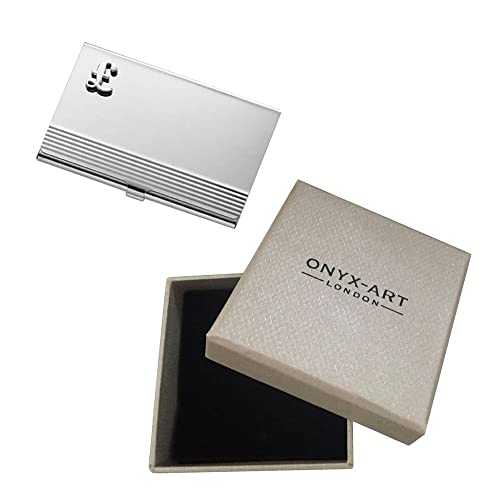 Amazon Onyx Art English Pound Symbol Business Card Holder In