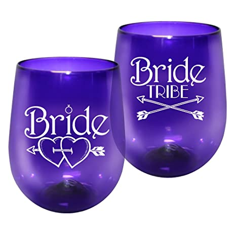 f9d06dffa0c Image Unavailable. Image not available for. Color: Barware 12oz Plastic  Stemless Wine Glass ...