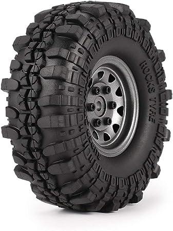 4pcs 1.9in neumáticos de Goma llanta de Metal llanta para ...