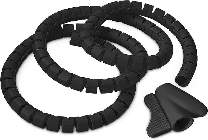Relaxdays 10018867 Gaine flexible serre-c/âbles pour protection de c/âble