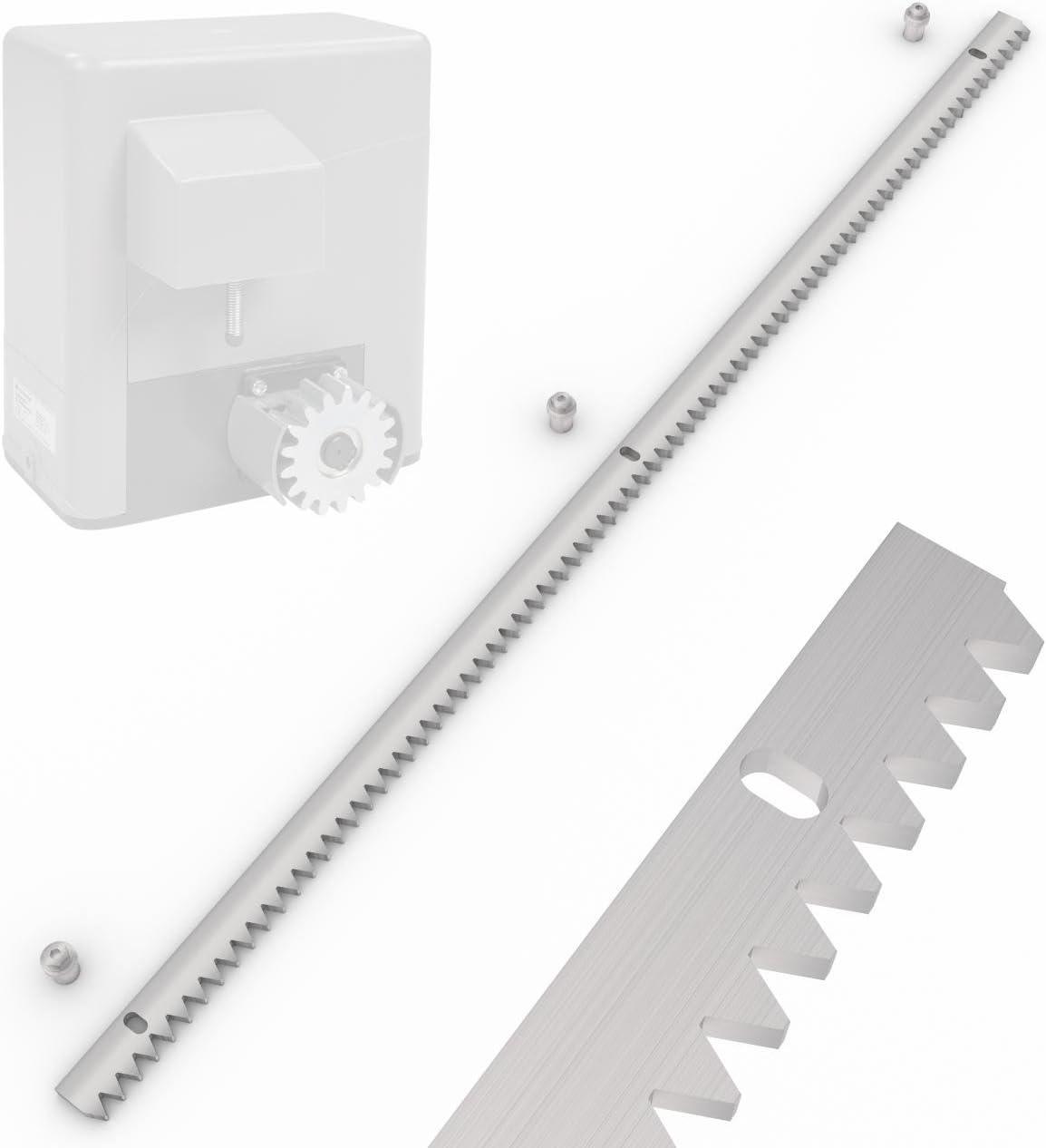 Carril dentado para de puertas correderas (slgok600 dientes Barra 100 cm Acero galvanizado: Amazon.es: Bricolaje y herramientas