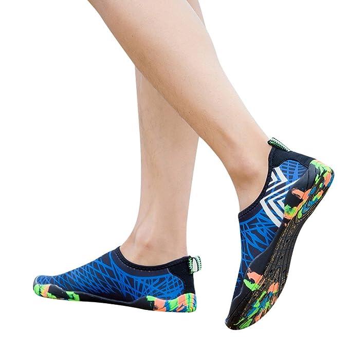 Zapatillas Deportivos Zapatos De Agua Para Buceo Snorkel Surf Piscina Playa Vela Mar Cycling Acuáticos Calzado De Natación Escarpines Sneaker De Yoga Para ...