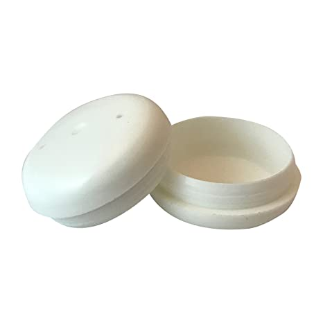 a95e5fb9f98a Amazon.com   Project Patio 1-1 2 Inch Deluxe Round Glide Insert Cup End Cap  for Wrought Iron Patio Furniture Chairs and Tables 24-Pack (White)   Garden    ...