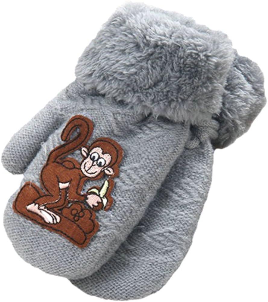 F/ür 1-8 Jahre Niedlich Karikatur Verdicken Winter Warme Handschuhe Amcool Baby Handschuhe