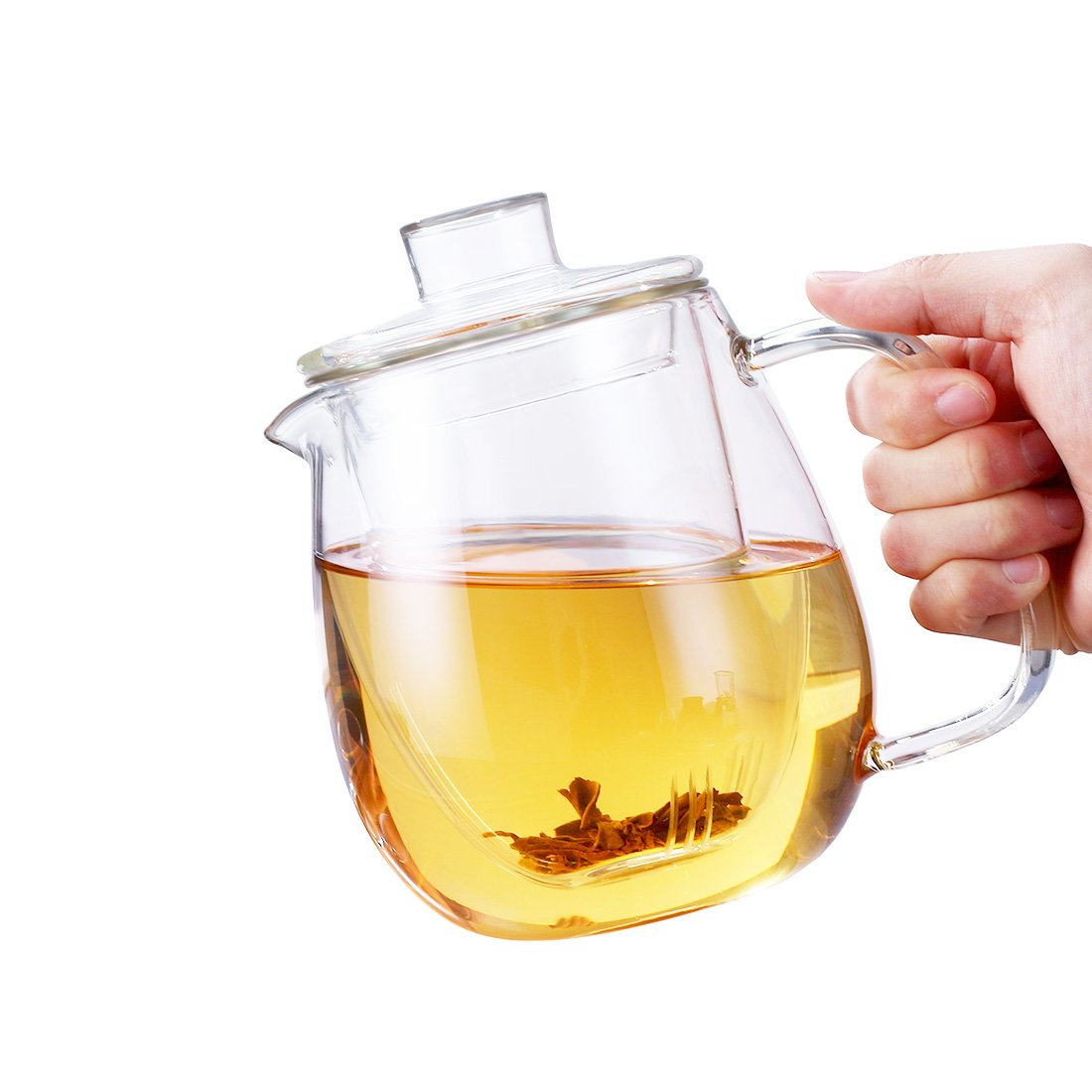 oneisall Glass Pitcher With Lid & Infuser - Borosilicate Glass Carafe 40oz/1200ml BPA-FREE Heat-resistant,Perfect For Hot&Cold Water,Tea,Juice,milk DHTGYBL581 (1200ML) by oneisall (Image #6)