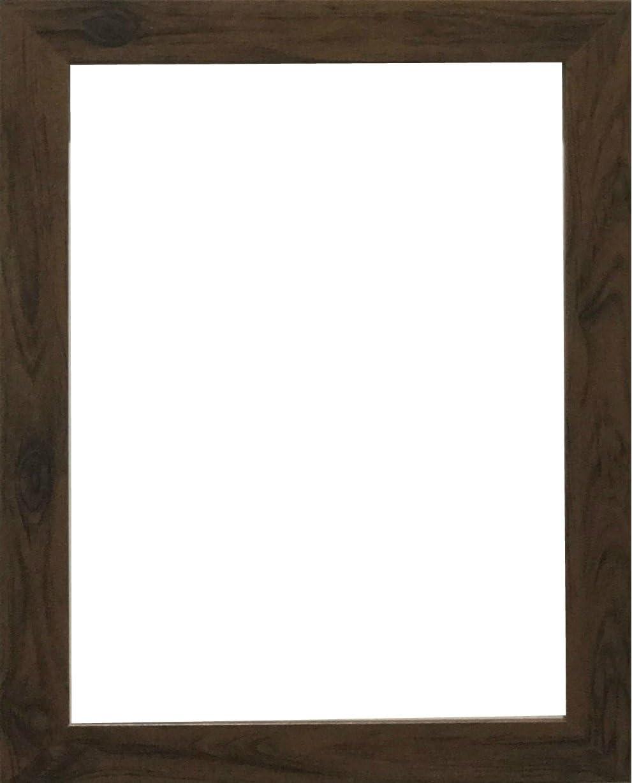 Marco de fotos moderno, con acabado de madera, en varios tamaños, madera MDF, marrón, A5(210x148)mm: Amazon.es: Hogar